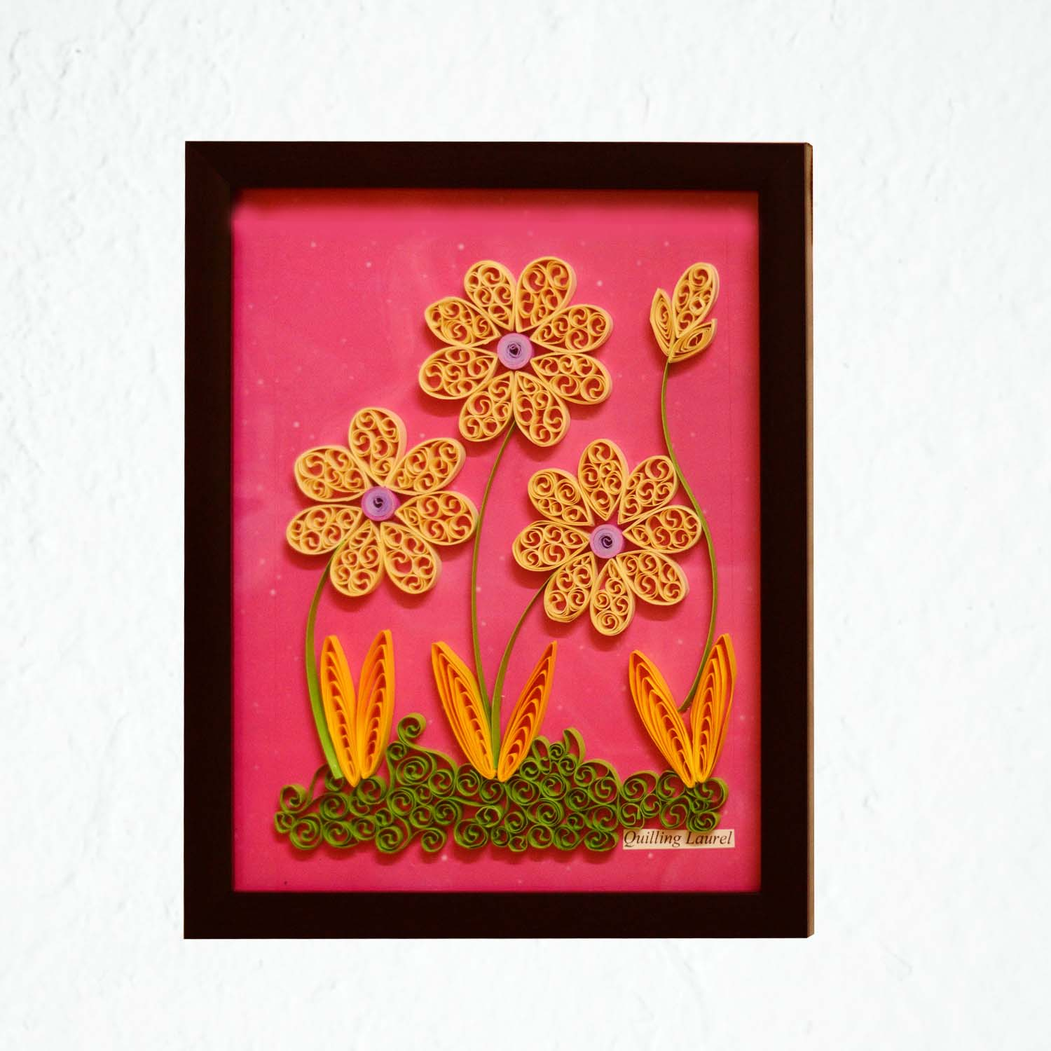 Handmade Paper Quilled Wall Decor